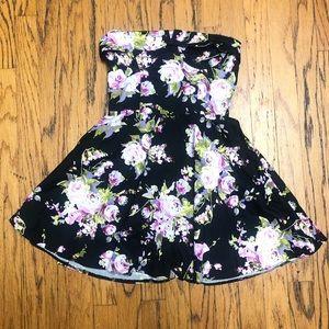 Sans Souci Cute Floral Strapless Party Dress